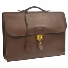 HERMES Sac A Depeche 38 Business Hand Bag Brown Veau Greine Couchevel ⚪S JT07536