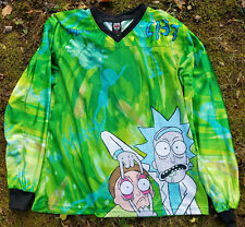 Rick and Morty Paintball Jersey Shirt Size 2XL with Meeseeks, Pickle, Portal