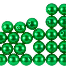 Acrylic Pearl Beads Round Forest Green 14mm Pack of 20 F102//2