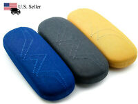 Clam Shell Hard Case for Eyeglasses - Chose Fabric Color: Mango, Denim, Charcoal