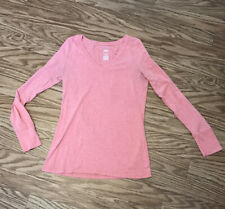 Sz M Peach Color Long Sleeve V Neck Shirt: Mossimo