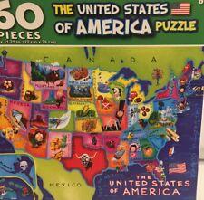 """Puzzlebug 60 Pc United States Jigsaw Puzzle  8.75"""" x 11.25"""" BRAND NEW SEALED!"""