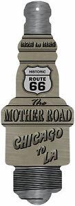 Route 66 Mother Road Spark Plug Novelty Man Cave Funny Garage Decor