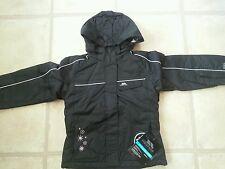 Brand New Girls Trespass Winter Black Ski Or School Coat 4-5-6 Years