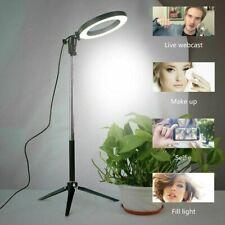 LED Studio Ring Light Photo Video Lamp Light Dimmable Tripod Selfie Camera Phone