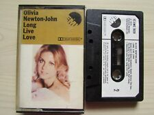 OLIVIA NEWTON JOHN LONG LIVE LOVE CASSETTE 1974 EMI, ORIGINAL EARLY TAPE, TESTED