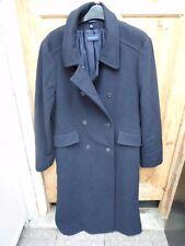 Windsmoor Ladies Black Full Length Lined Wool Coat size 12