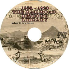 Early USA Railroad History ~ Volume 4 { 19 Historical R.R. Books }  on DVD
