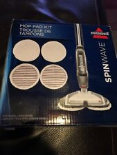 4pk Bissell 2124 Spinwave Mop Pad Kit Replacement Pads New Genuine