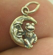 MUPPET SHOW KERMIT FROG ON THE MOON 3D .925 Solid Sterling Silver Charm