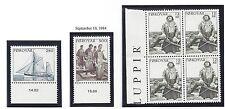 """FAROE ISLANDS  112-114  MNH  BL OF 4 & STAMPS 1984  """"BOAT, FISHERMAN & HELMSMAN"""""""