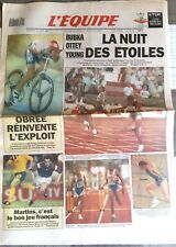 L'Equipe Journal 20/8/1993; Bubka/ Ottey/ Young/ Obree l'exploit/ France-Suède/