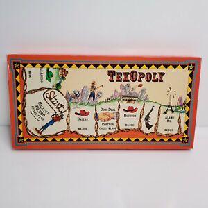 Vintage Global Games TexOpoly Board Game Texas USA