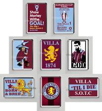 New Set Of 8 Quality Fridge Magnets, VILLA, McGrath, Born & Bred, Aston, Trophy