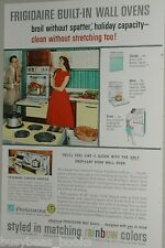 1959 Frigidaire advertisement, built-in oven, drop-down stove, cool retro colors