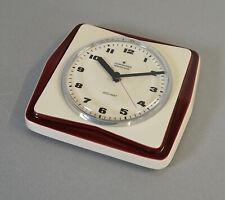 edle Junghans electronic ATO-MAT Keramik Wanduhr Küchenuhr Vintage 60er J. RAR