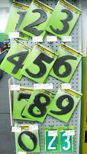 "6"" Black Plastic Weather-Resistant House Numbers Mounting Screws Included"