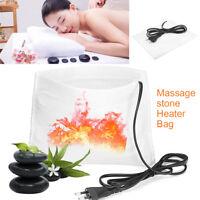 220V Electric Heating SPA Massage Stone Lava Rocks Electric Heating Bag  HOT #