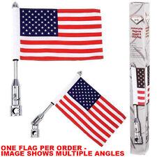 Motorcycle Flag Pole Mount and 6 x 9 Flag American USA Kawasaki KZ Cruiser