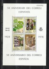 ANDORRA ESPAÑOLA. Año: 1978. Tema: L ANIV. DEL CORREO ESPAÑOL.