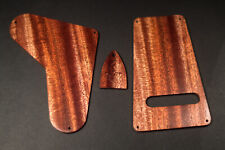 Figured African Mahogany PRS USA Cover Plate Set Tremolo/Electronics/Truss