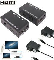 1080P HDMI Extender Over Single Network Cable CAT5E CAT6/7 Ethernet RJ45 Lan 60M