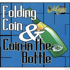 50 Euro-Cent Münze in Flasche !  toller Zaubertrick Faltmünze Flaschenmünze