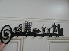 Metal key rack with 6 hooks, family design