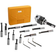 12x 3 Boring Head R8 Shank Amp 34 Carbide Boring Bar Set Milling New