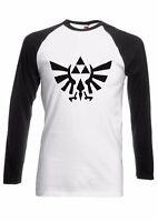 Legend of Zelda Triforce Game Men Women Long Short Sleeve Baseball T Shirt 161E