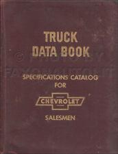 1959 Chevy Truck Data Book Dealer Album Options Accessories Pickup El Camino Etc