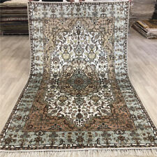 YILONG 5'x8' Vintage Home Decor Classic Woven Silk Rug Hand Knotted Carpet 481C