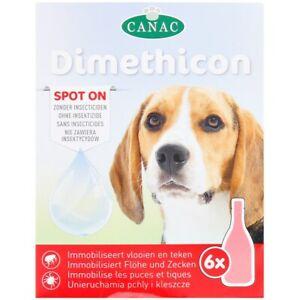 6x Flohmittel Anti Floh Anti Zecken für Hunde Spot On Hund Dimethicon (6x 1,5ml)