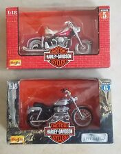 Two (2) Harley Davidson Maisto 1:18 Series 5 & 6 Diecast Model Motorcycles