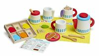 Melissa & Doug 22-Piece Marche & Serve Bois Set Thé Ensemble de Jeux