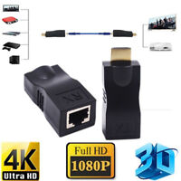 4K 1080P 3D hdmi extender to rj45 over cat 5e/6 network LAN ethernet adapter Pip