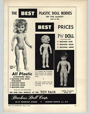 """1952 PAPER AD Duchess Doll 7.5"""" Doll Bodies 12.5"""" Undressed"""