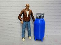 RC 1/10 Scale Air Compressor Blue Vertical Shop Garage Crawler Doll Accessory