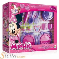 Minnie Mouse Kitchen Set Cuttlery Knives Forks Plates Pans Cooking Playset
