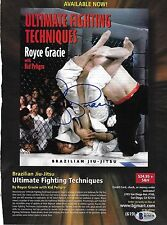 Royce Gracie Signed 8x10.5 Magazine Page Ad BAS Beckett COA UFC Pride Jiu-Jitsu
