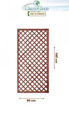 Griglia/Steccato/Pannello grigliato in legno trattato x giardino/terrazzo 180x90