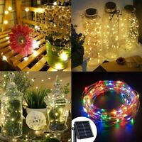 10M Solar Powered String Light Chain 100 LED Copper Wire Outdoor Party Lamp