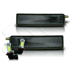 Fit 2004-2006 Scion XB Bumper Fog Light and Switch Only w/COB LED Bulbs - Smoke