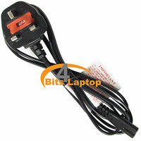 2m Extra Long New C7 Fig8 UK 2 Pin For Laptop TV LCD Mains Power Lead Cable Cord