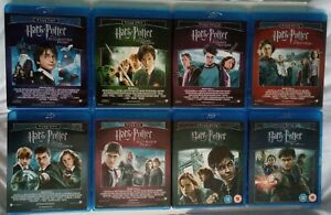 Harry Potter Complete Collection: Years 1,2,3,4,5,6,7,7B (1-8 Movie Blu-ray Box)