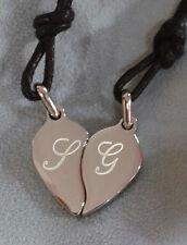 Ciondolo cuore spezzato  personalizzabile in acciaio 304 anallergico