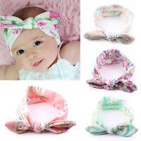 4 Stück Baby Kinder Stirnband KNOTEN Schleife Haarband Mädchen Haarschmuck M9P4