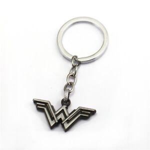 Wonder Woman Justice League Keyring Antique Silver