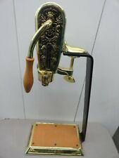 New listing Vinaire Deluxe Wine Bottle Opener Lever Arm Crank Brass Vintage Item
