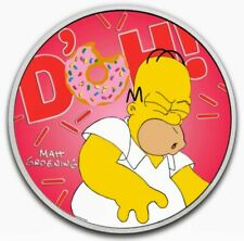 2019 P Tuvalu The Simpsons Bart 1 oz Silver Colorized Proof $1 Coin OGP SKU57907